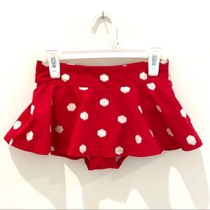 Hanna Andersson Red polka dot Sunblock Swim Skirt